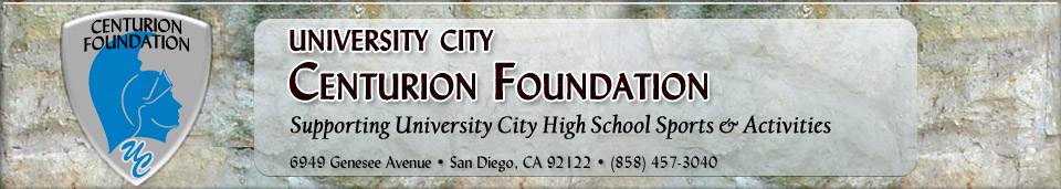 University City Centurion Foundation - Supporting UC High School Sports and Activities